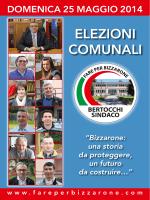 Opuscolo ufficiale lista nr. 1 Fare per Bizzarone