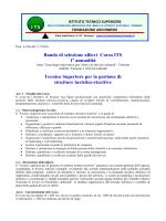 Bando di selezione allievi Corso ITS 1 annualità Tecnico Superiore