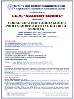 "I.U.M. ""ACADEMY SCHOOL"" CORSO CUSTODE GIUDIZIARIO E"
