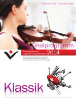 Finalprogramm - Stiftung Schweizerischer Jugendmusikwettbewerb