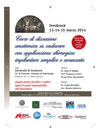 Corso Innsbruck 2014 - New York University College of Dentistry