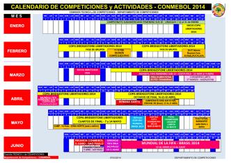 CALENDARIO DE COMPETICIONES y ACTIVIDADES