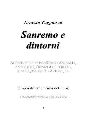 Anteprima libro 2 – Sanremo e dintorni