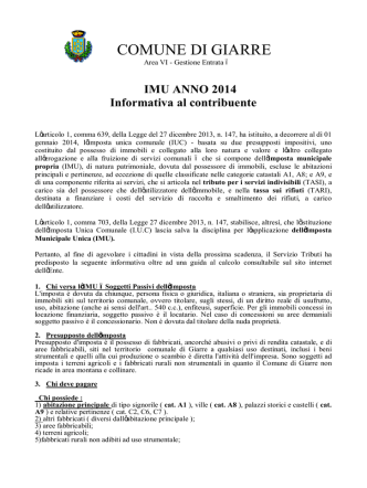brochure imu 2014 - Comune di Giarre