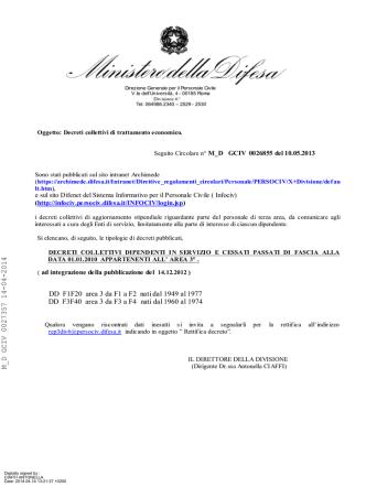 Circolare del 14-04-2014 - Ministero della Difesa