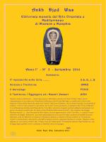 Ankh Djed Was n°3 Settembre 2014 - Rito Orientale e Mediterraneo