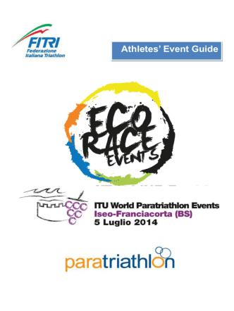 Athletes Guide 2014 Iseo ITU World Paratriathlon Event vers