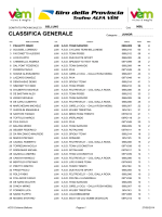 CLASSIFICA GENERALE - ACSI settore ciclismo