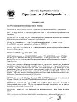 Dipartimento di Giurisprudenza - Università degli Studi di Messina