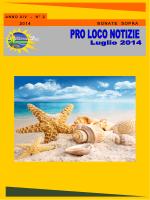 Giornalino Luglio 2014 - Pro Loco Bonate Sopra, Ghiaie e Cabanetti