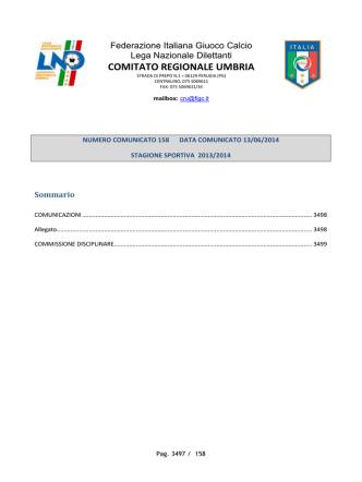commissione disciplinare - FIGC Comitato Regionale Umbria
