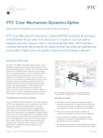 PTC® Creo® Mechanism Dynamics Option