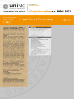 mercati intermediari e finanziari / MIF