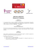 REGOLAMENTO MusicAle X Edizione