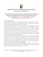 Bando Amianto 2014 - Provincia di Carbonia Iglesias