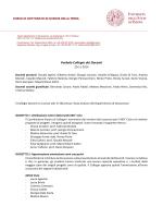 Verbale Collegio dei Docenti - Dipartimento di Geoscienze