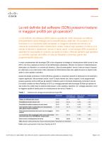 (SDN) possono tradursi in maggiori profitti per gli operatori?
