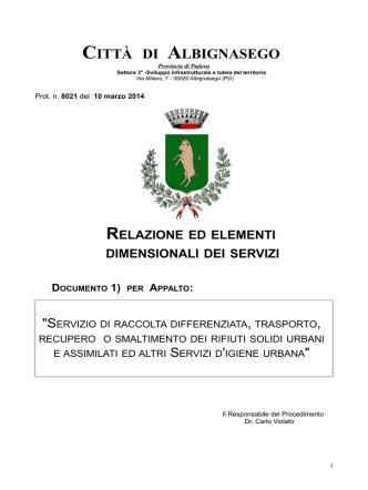 ALLEGATO 2 : - Comune di Albignasego