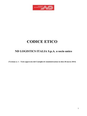 CODICE ETICO – START ROMAGNA S.P.A.