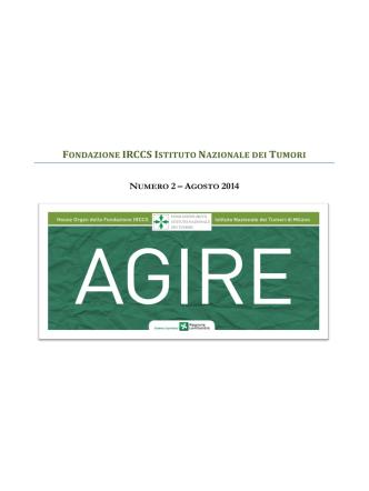 AGIRE N. 2 - Istituto Nazionale dei Tumori