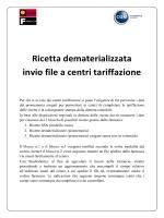 Ricetta dematerializzata invio file a centri tariffazione