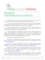PROGETTO FINPOWER SOLAR 75 IMPIANTI