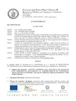 Unive ersità degl li Studi d di Napoli Federico o II