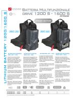Batteria Multifunzionale drive 1200 S - 1600 S