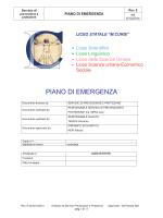 PIANO DI EMERGENZA - Liceo Statale Marie Curie
