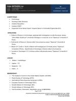 CV ACCADEMICO (sintesi) - Dipartimento di Informatica e Sistemistica