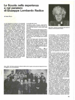 La Scuola nella esperienza e nel pensiero di Giuseppe Lombardo