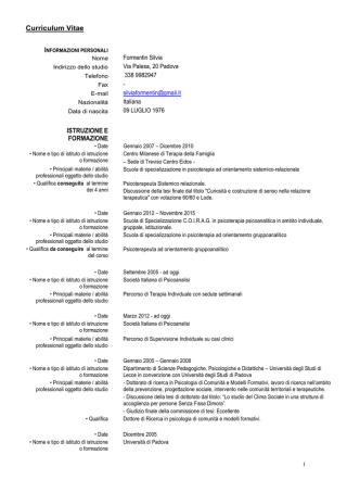 Curriculum - Studio DuranoFormentin