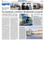 Rovereto, ex stazione corriere, finalmente si parte