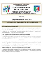 Comunicato n.08 - FIGC CRER