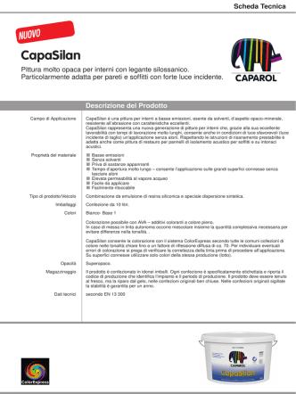 CapaSilan - Scheda tecnica