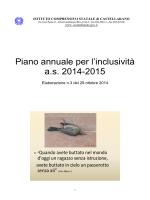Elaborazione n.3 PAI 1415 - Istituto Comprensivo di Castellarano