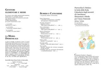 catechismo 2015.pmd - Abbazia S. Stefano