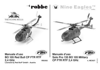 BO 105 Red Bull CP FTR RTF 2,4 GHz Solo Pro 135 BO 105 Military