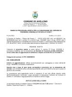 BANDO GARA TESORERIA Avellino 2014_2018 _1