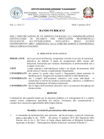 "Bando PEI - IIS ""G. Gasparrini"" – Melfi"