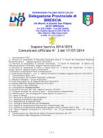 17/07/2014 - Comunicato ufficiale N.03 - Comitato di