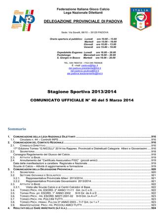 Com_N 40 - FIGC Veneto