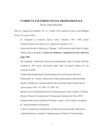 CURRICULUM FORMATIVO E PROFESSIONALE