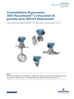 Trasmettitore di pressione 3051 Rosemount® e misuratori di portata