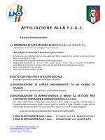 Modulo Richiesta affiliazione F.I.G.C.