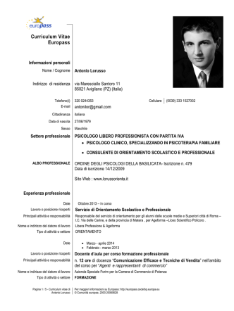 Curriculum - Lorussorienta
