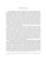 PRESENTAZIONE Le corrispondenze italiane di Joan Ram Escrivà