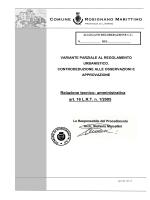 Relazione RdP su approv - Comune di Rosignano Marittimo