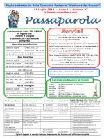 Passaparola 13 luglio 2014