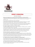SPORT E MEDICINA - Poliambulatorio SaluSanGiorgio